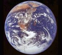 Our finite Earth from space.